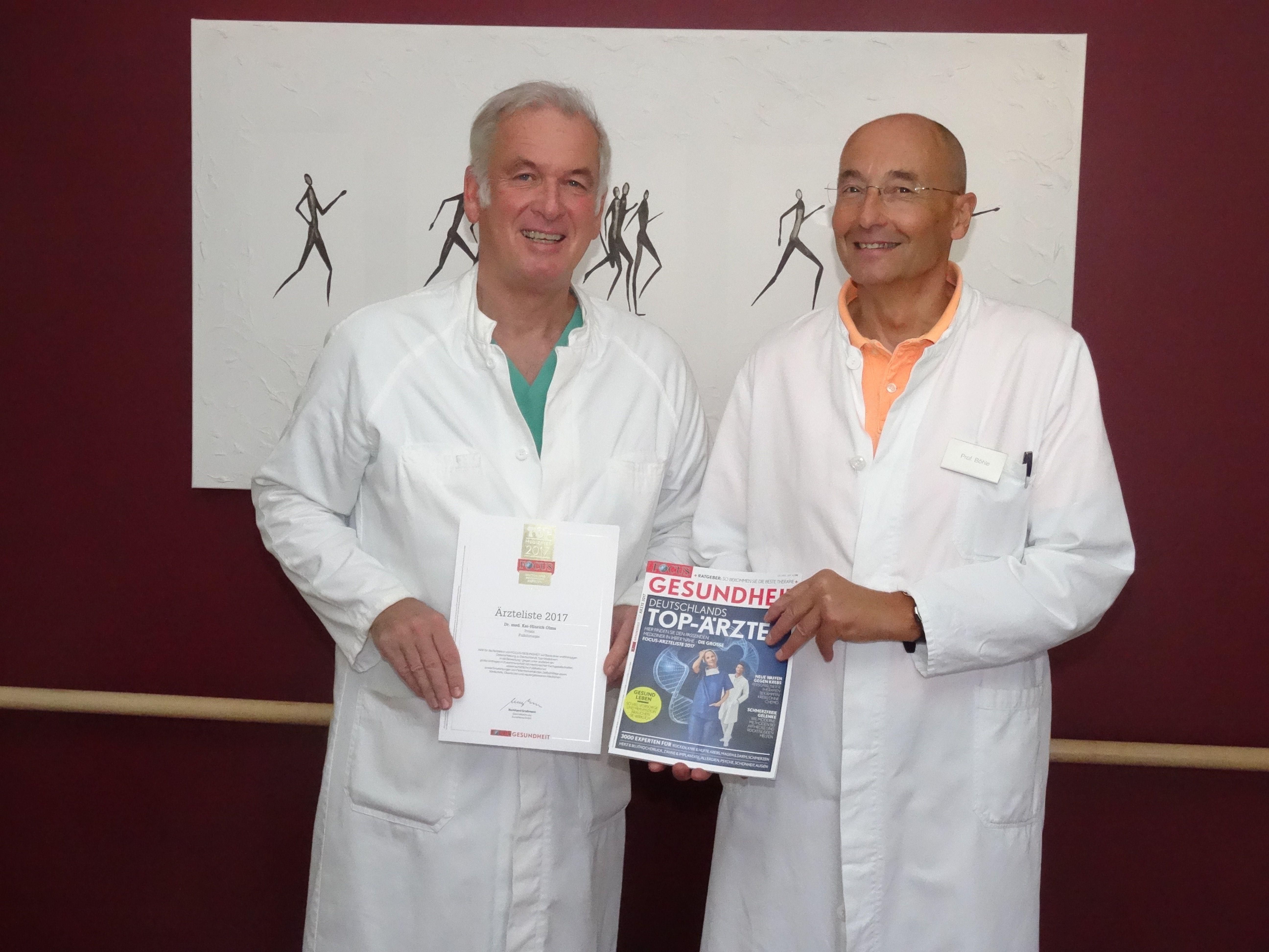 BU: Dr. Kai Olms (li.) und Prof. Dr. Andreas Böhle freuen sich über die Auszeichnung