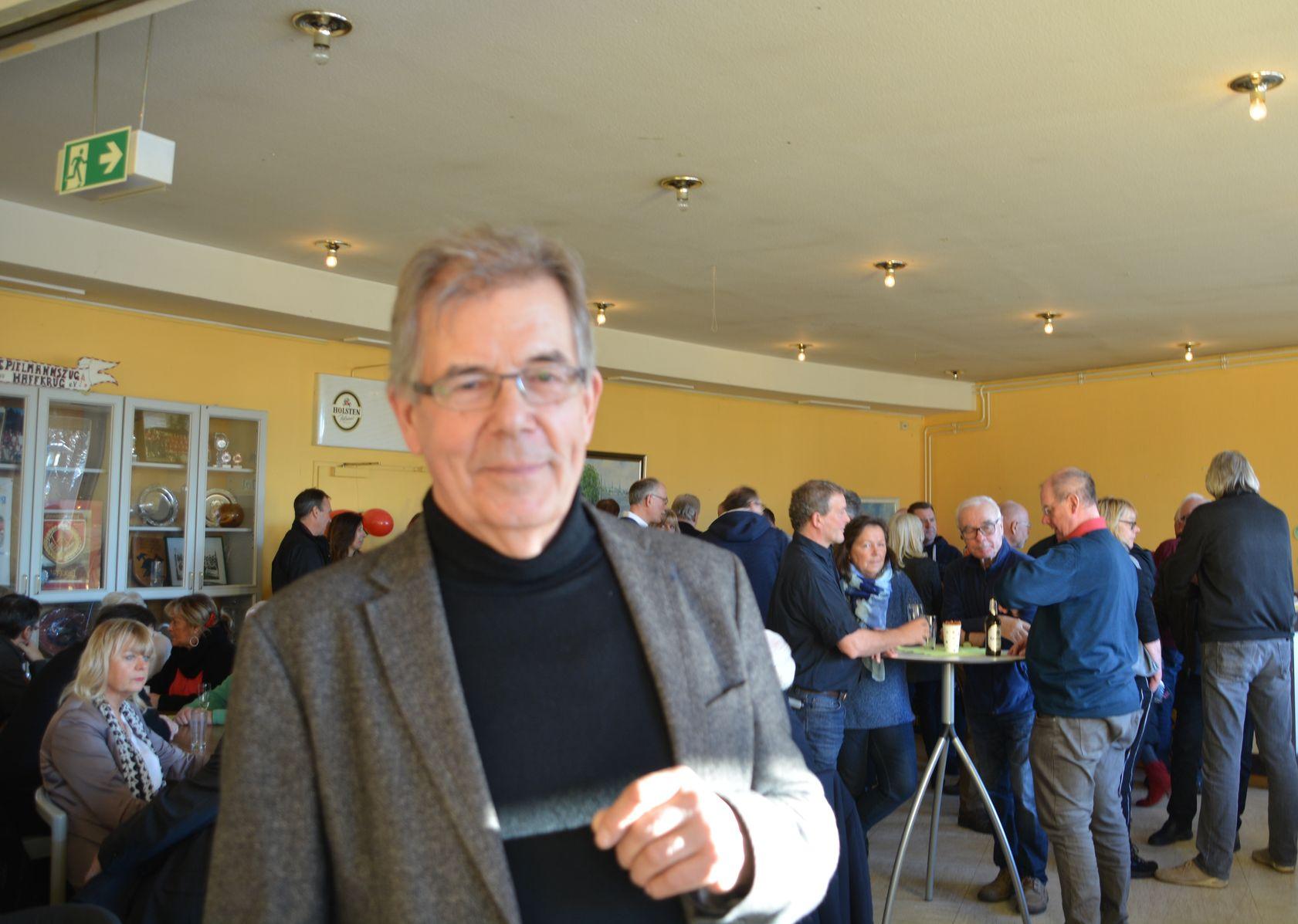 Dorfvorsteher Helmut Kurth freute sich auch in diesem Jahr über einen gut besuchen Neujahrsempfang in Haffkrug.