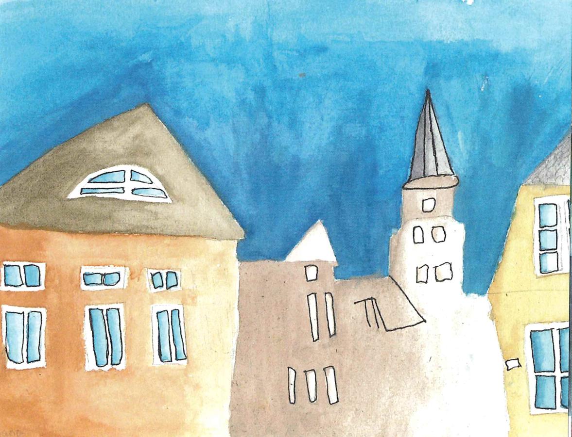 Jana Noack (13) spaziert gerne durch die Jahrmarktstraße. Dort ist Travemündes ältestes Haus zu finden, im Hintergrund die St.-Lorenz-Kirche. Smilla Koch (9) findet das Gut Hasselburg bei Neustadt wunderschön. Das schwungvolle Torhaus hat sie gekonnt und bunt gezeichnet. Das Schloss