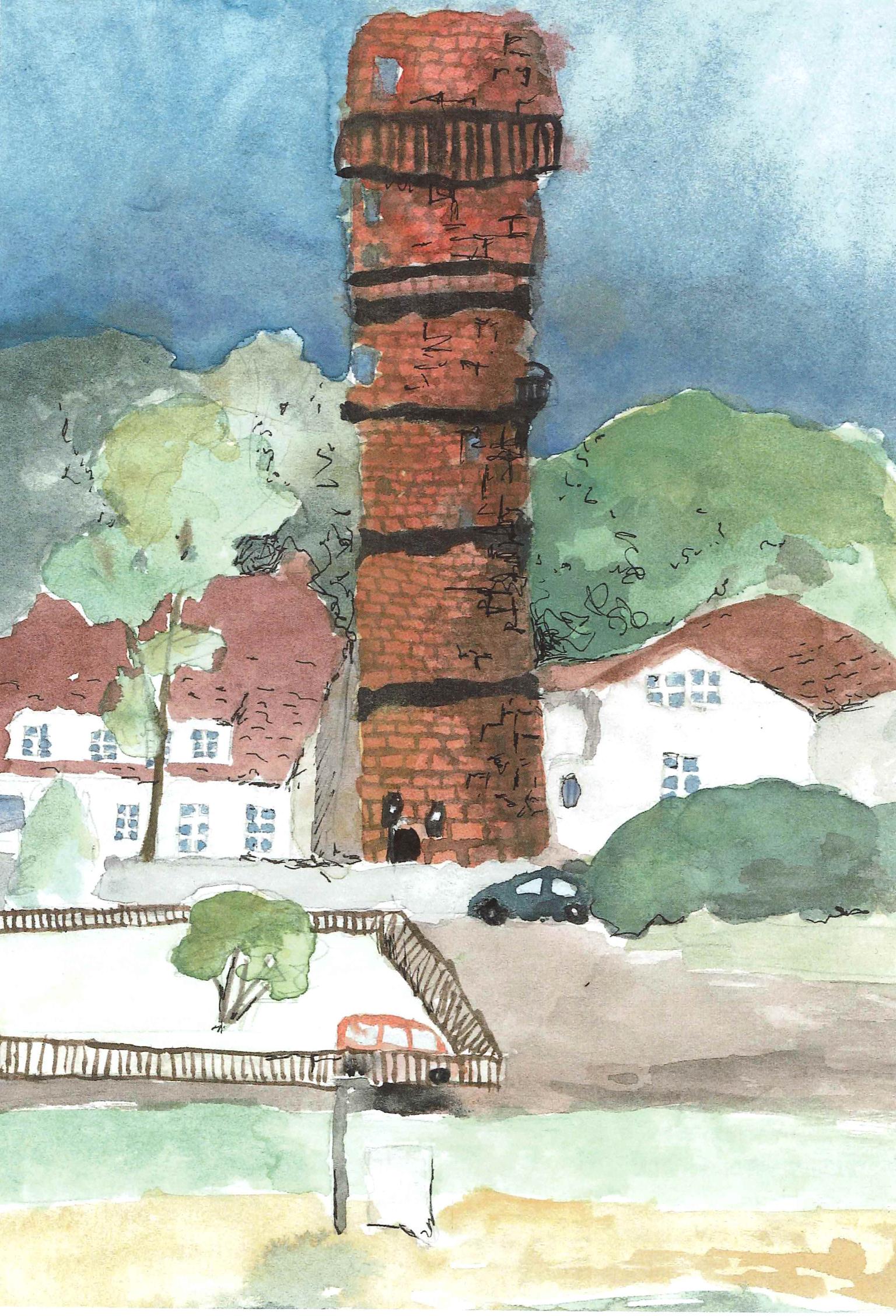 Anna-Lena Schaich (13) hat Travemündes alten Leuchtturm gemalt.
