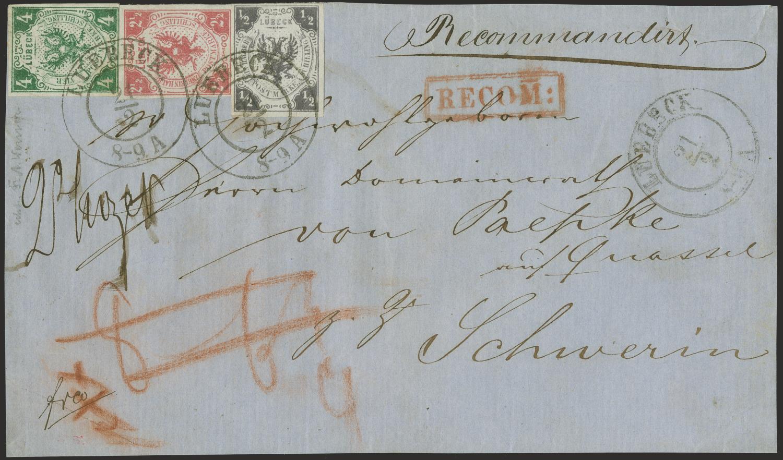 Brief Lübeck Briefmarken Versteigerung
