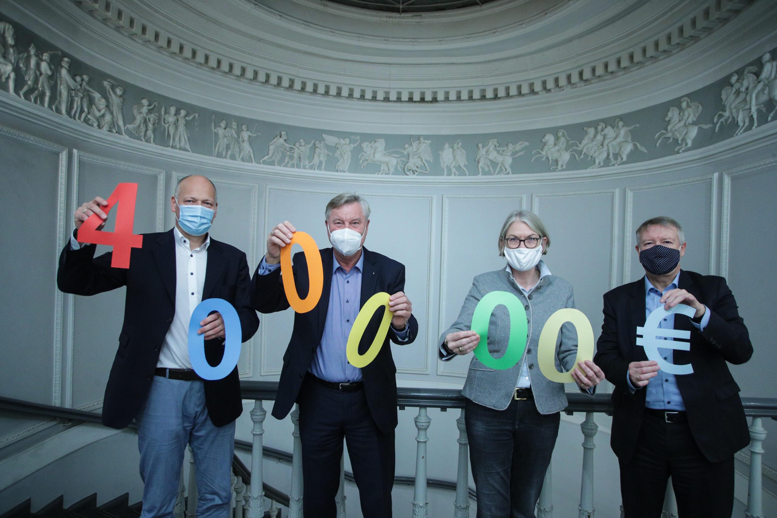 Die Gemeinnützige Sparkassenstiftung zu Lübeck unterstützt die Gemeinnützige in diesem Jahr mit einer Zuwendung in Höhe von 400.000 Euro.
