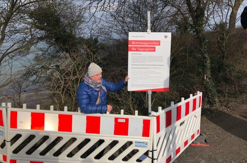 Bereits seit dem 17. Dezember gilt für das Ostseebad Travemünde ein Betretungsverbot für Tagestouristen am Wochenende.