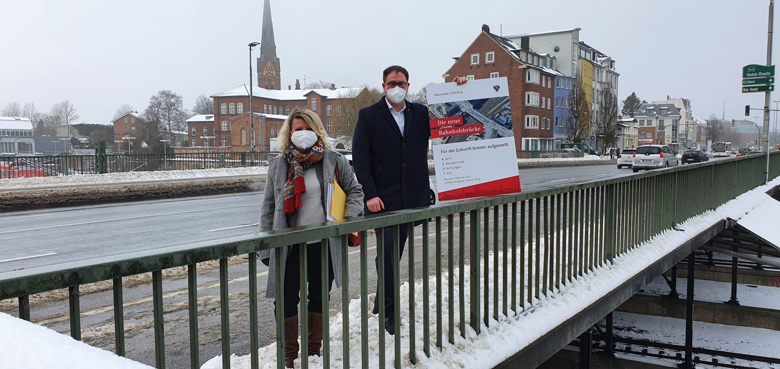 Bahnhofsbrücke Lübeck wird saniert