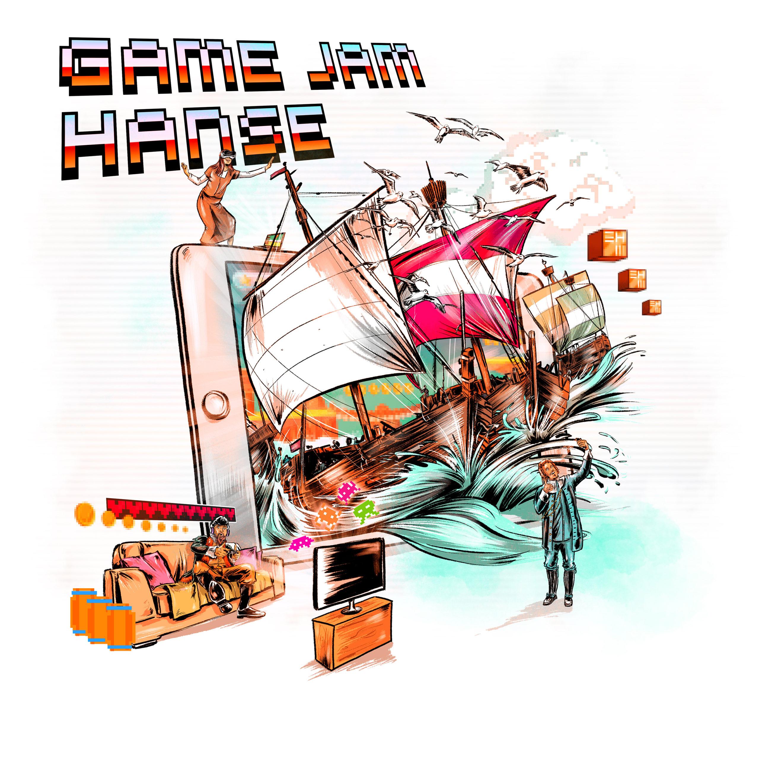 """Das Europäische Hansemuseum ruft vom 25. bis 28. März zum """"Game Jam Hanse"""" auf. Es werden innerhalb kurzer Zeit digitale Spiele entwickelt."""