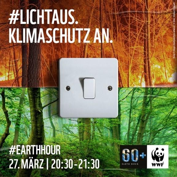 """""""Licht aus – Klimaschutz an!"""" heißt es am Sonnabend, 27. März , wenn weltweit während der """"Earth Hour"""" das Licht ausgeschaltet wird."""
