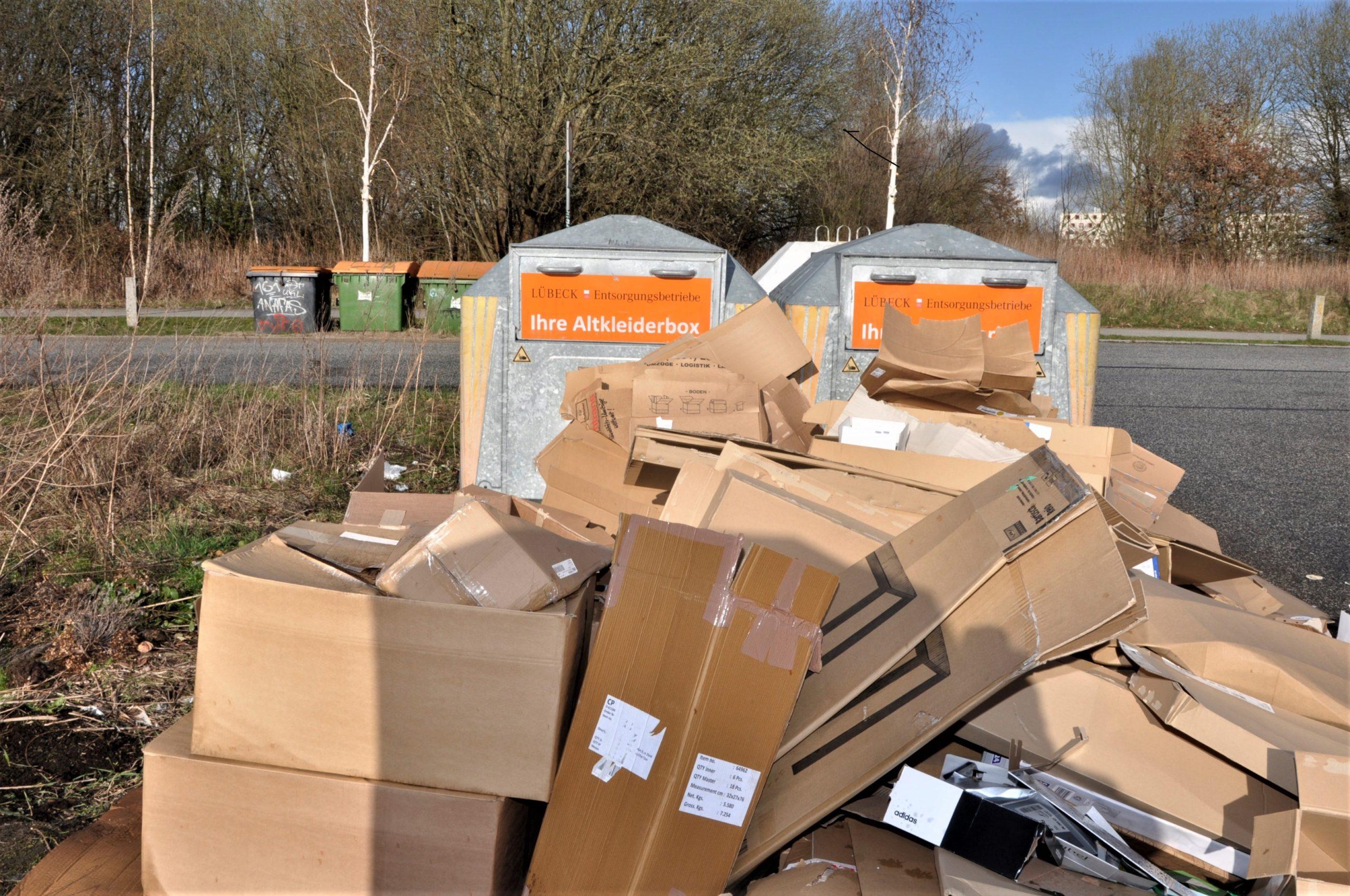 Müllcontainer entfernen Lübeck Hochschulstadtteil