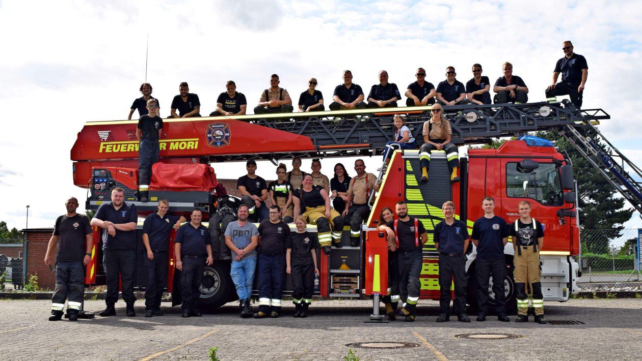 Seit Anfang 2019 treffen sich die Freiwillige Feuerwehr Lotyn aus Polen und Mori regelmäßig zu gegenseitig organisierten Trainings- und Fortbildungstreffen..