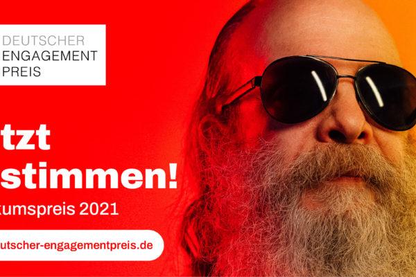 Am 9. September ist die Abstimmung über den Publikumspreis des DeutschenEngagementpreises gestartet.