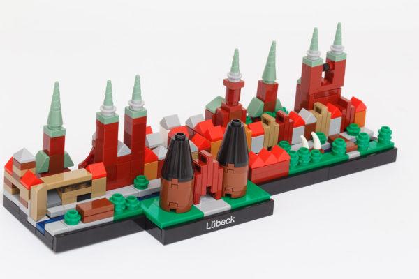 Für das Hansemuseum wurde mit dem LEGO Modellbauer Thore Michels und der Firma FlixBrix die Lübecker Skyline aus LEGO Steinen produziert.